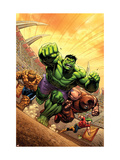 Marvel Adventures Hulk #12 Cover: Hulk, Thing and Juggernaut