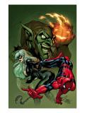 Marvel Knights Spider-Man No.10 Cover: Spider-Man, Black Cat and Green Goblin