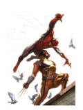 Secret Invasion #7 Cover: Spider-Man and Wolverine