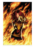 X-Men: Phoenix - Endsong #1 Cover: Phoenix, Grey and Jean Art Print