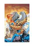 Marvel Adventures Fantastic Four No.34 Cover: Thing and Human Torch