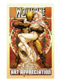 Wolverine Art Appreciation One-Shot Canvas Cover Cover: Wolverine and Emma Frost Art Print