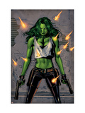 She-Hulk No.26 Cover: She-Hulk Fighting