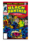 Black Panther #1 Cover: Black Panther, Little, Abner and Princess Zanda Fighting