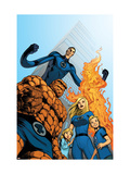 Fantastic Four #570 Cover: Thing, Invisible Woman, Human Torch and Mr. Fantastic