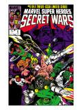 Secret Wars No.6 Cover: Dr. Doom, Absorbing Man, Lizard, Doctor Octopus, Wrecker and Ultron