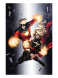 Ms. Marvel #49 Cover: Ms. Marvel and Captain Marvel