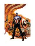 Captain America No.41 Cover: Captain America Charging