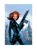 Black Widow No.1 Cover: Black Widow Fighting