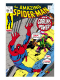 The Amazing Spider-Man #98 Cover: Green Goblin and Spider-Man Fighting
