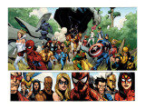 Secret Invasion #1 Group: Captain America, Spider-Man and Vision