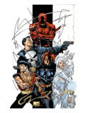 Marvel Spotlight: Marvel Knights 10th Anniversary Cover: Daredevil Art Print