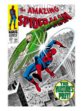 The Amazing Spider-Man No.64 Cover: Vulture and Spider-Man Fighting