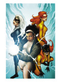 Marvel Divas #3 Cover: Photon, Hellcat, Black Cat and Firestar