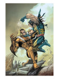X-Men #164 Cover: Wolverine and Sabretooth