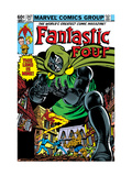 Fantastic Four #247 Cover: Dr. Doom, Mr. Fantastic, Invisible Woman, Human Torch and Thing