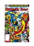 Fantastic Four No.236 Cover: Thing, Mr. Fantastic, Invisible Woman and Human Torch
