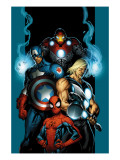 Ultimate Spider-Man #70 Cover: Spider-Man, Thor, Captain America, Iron Man and Ultimates