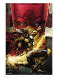 Beta Ray Bill: Godhunter #1 Cover: Beta-Ray Bill and Galactus