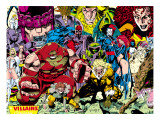 X-Men #1 Pin-up Group: A Villains Gallery