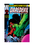 Daredevil #163 Cover: Hulk and Daredevil Fighting