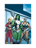 Hulk #7 Group: She-Hulk, Valkyrie and Thundra