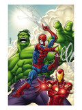 Marvel Adventures Super Heroes #1 Cover: Spider-Man, Iron Man and Hulk