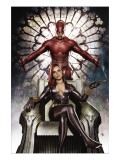 Black Widow: Deadly Origins No.3 Cover: Invisible Woman and Daredevil