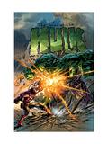 Incredible Hulk No.71 Cover: Hulk and Iron Man