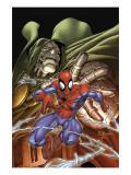 Marvel Age Spider-Man No.4 Cover: Spider-Man and Dr. Doom