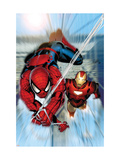 Invincible Iron Man #7 Cover: Iron Man and Spider-Man