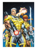 X-Force No.1 Cover: Cable, Shatterstar and Cannonball