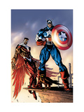 Captain America And The Falcon No.3 Cover: Captain America and Falcon