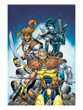 X-Force No.6 Cover: Cable, Shatterstar and Domino