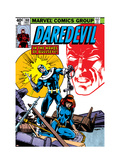 Daredevil #160 Cover: Bullseye, Black Widow and Daredevil Charging