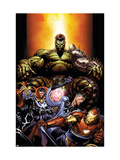 World War Hulk No.4 Cover: Hulk, Dr. Strange, Mr. Fantastic and Iron Man