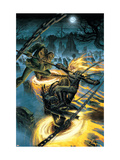 Ghost Riders: Heavens On Fire No.4 Cover: Ghost Rider and Scarecrow