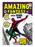 Marvel Comics Retro: Amazing Fantasy Comic Book Cover #15, Introducing Spider Man