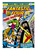 Marvel Comics Retro: Fantastic Four Family Comic Book Cover No.167, Thing and the Hulk