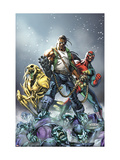 Avengers: The Initiative #16 Cover: 3-D Man, Ryder and Riot