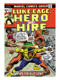 Marvel Comics Retro: Luke Cage, Hero for Hire Comic Book Cover No.14, Fighting Big Ben