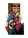 Avengers/Thunderbolts No.1 Cover: Baron Zemo, Captain America, Moonstone, Hawkeye, Wasp & Avengers