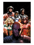 Squadron Supreme #5 Cover: Nick Fury, Arcanna, Old Soldier, Biogeneral, Ruggles, Nell and Blur