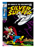Marvel Comics Retro: Silver Surfer Comic Book Cover #4, Thor