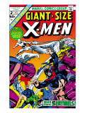 Giant-Size X-Men #2 Cover: Sentinel, Cyclops, Iceman, Angel and Beast