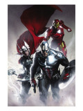 Secret Invasion #6 Cover: Captain America, Thor and Iron Man Art Print