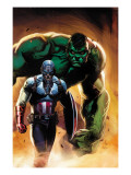 Ultimate Origins #5 Cover: Captain America and Hulk