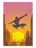 Spectacular Spider-Man No.27 Cover: Spider-Man Swinging