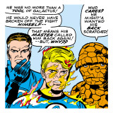 Marvel Comics Retro: Fantastic Four Comic Panel, Mr. Fantastic, Invisible Woman, Thing