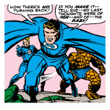 Marvel Comics Retro: Fantastic Four Comic Panel, Thing, Mr. Fantastic, Human Torch